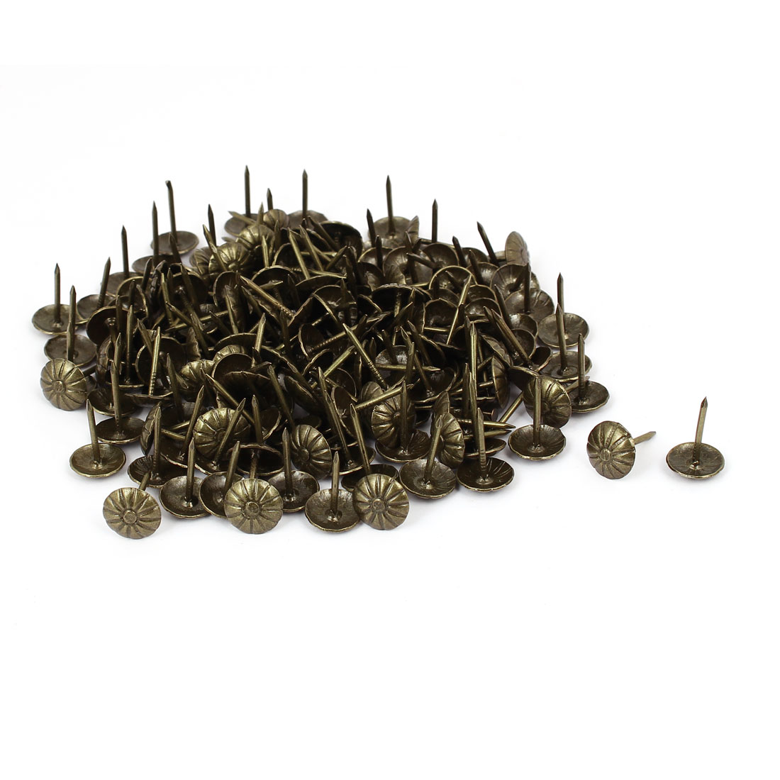 "Unique Bargains 7/16"" Dia Daisy Head Thumbtack Upholstery Decorative Nail Thumb Tack 150PCS"