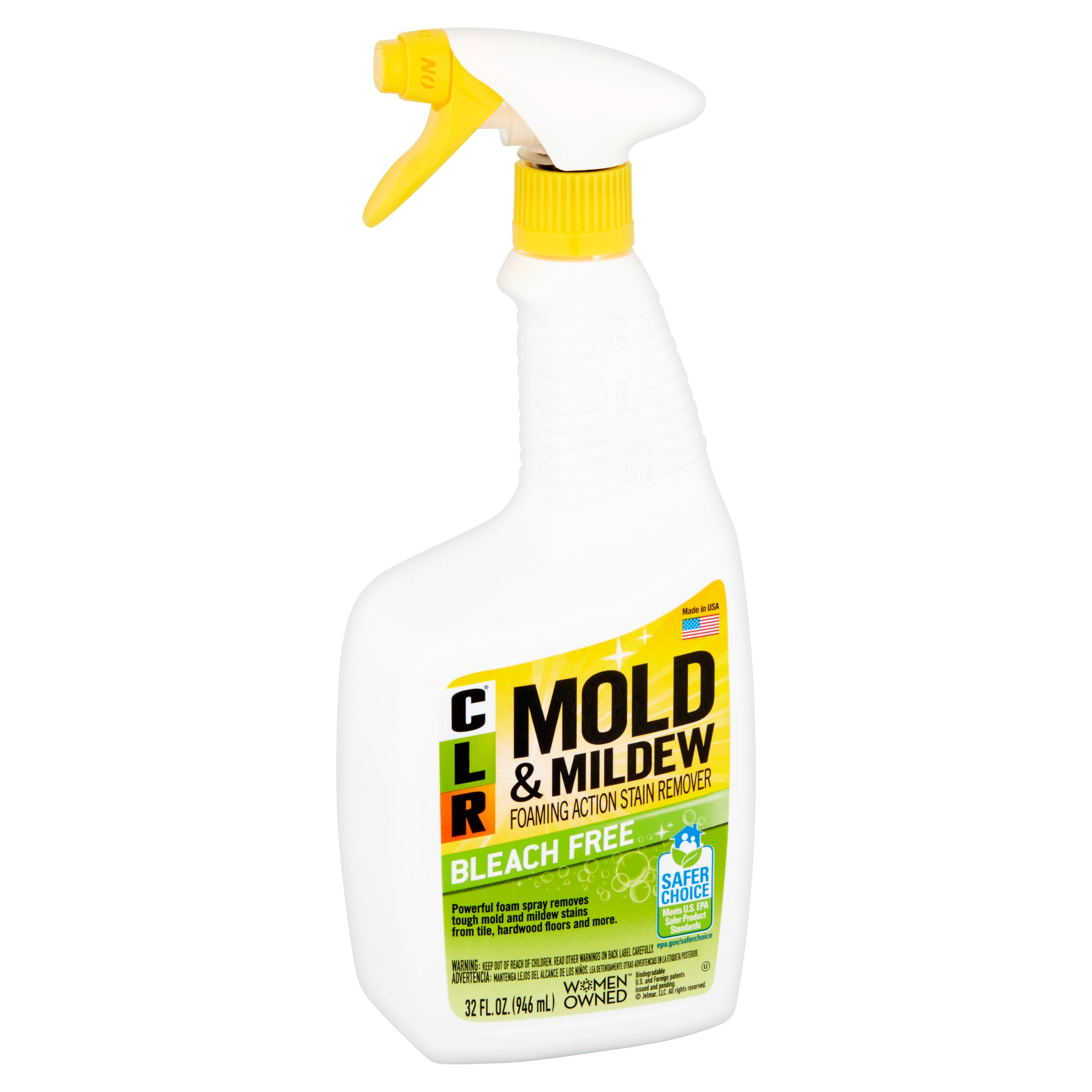 CLR Bleach-Free Mold & Mildew Spray Foaming Stain Remover, 32 Oz