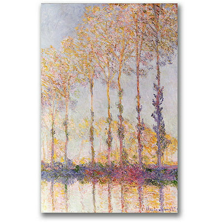 Trademark Fine Art  Poplars On The Banks Of The Epte  Canvas Wall Art By Claude Monet
