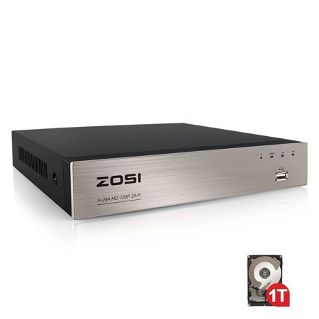 ZOSI 8 Channel 720P HD-TVI Standalone CCTV Security Surveillance DVR Recorder System 1TB Hard Drive
