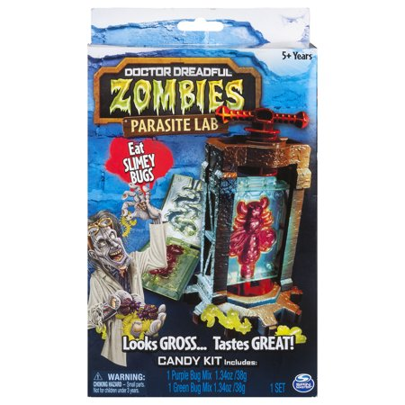 - Doctor Dreadful Zombies – Parasite Lab with Gummy Candy Mix and Molds