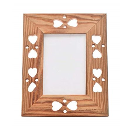 storeindya Diwali Gift Decoration Vintage Wooden Single Picture Photo Frame Stand French Style Heart Design Home Living Room Decor