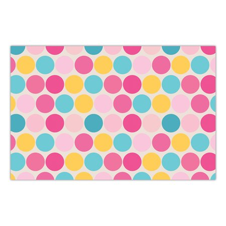 DB Party Studio 25 Pack Paper Place Mats Baby Shower Sprinkle Table Decorations Polka Dot Whimsy Boy Girl Gender Neutral Brunch Lunch Parties Mommy-to-Be Event 17