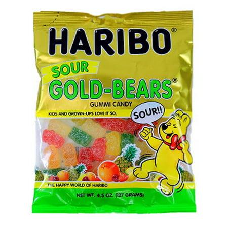Product Of Haribo, Peg Sour Gold-Bears Gummies, Ct 12 (4.5 Oz) - Sugar Candy / Grab Varieties & - Haribo Gummy Bear Flavors