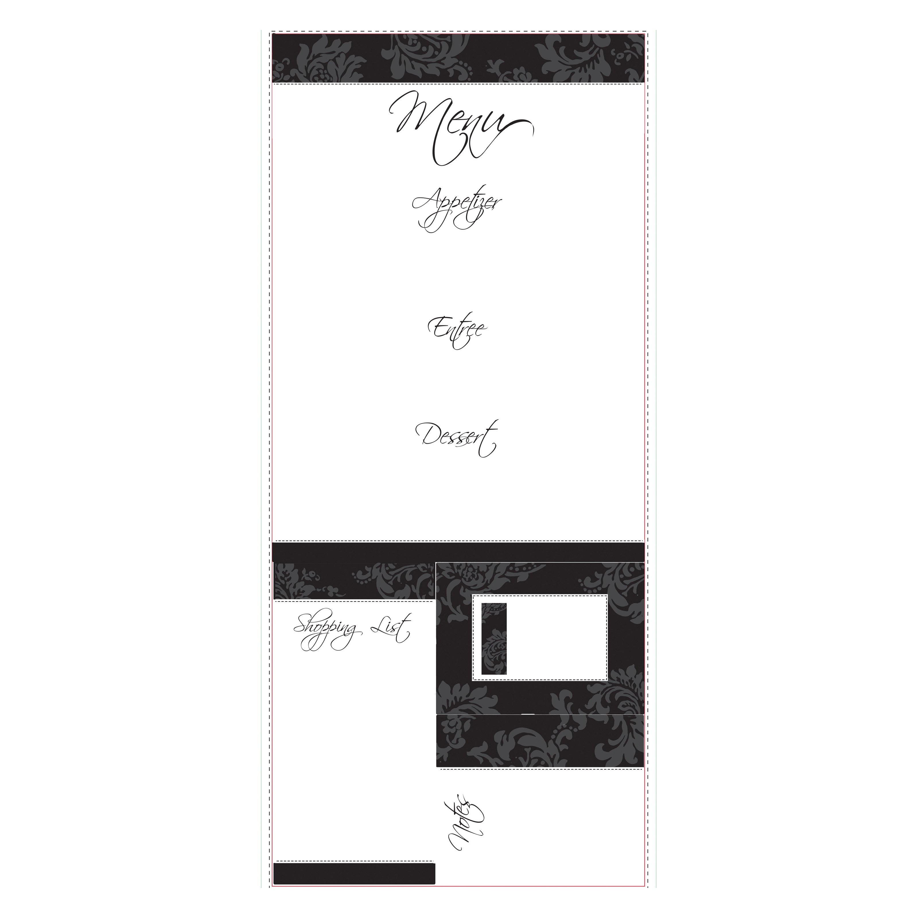 Dry Erase Menu Peel and Stick Giant Wall Decal