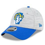 Los Angeles Rams New Era Youth 2021 NFL Training Camp Official 9FORTY Adjustable Hat - Gray/Royal - OSFA