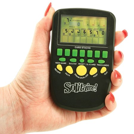 Pocket Electronic Handheld Solitaire Travel Game Classic Stocking Stuffer