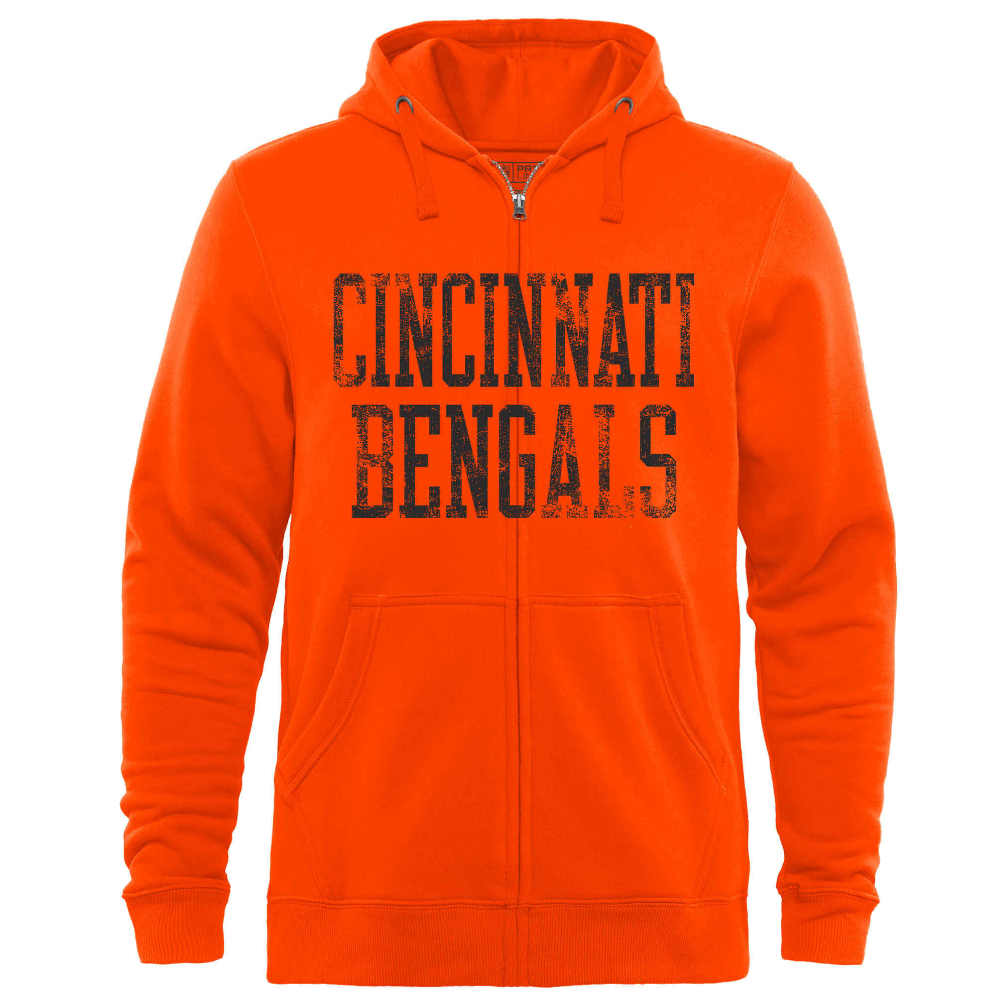 Cincinnati Bengals NFL Pro Line by Fanatics Branded Straight Out Full-Zip Hoodie - Orange