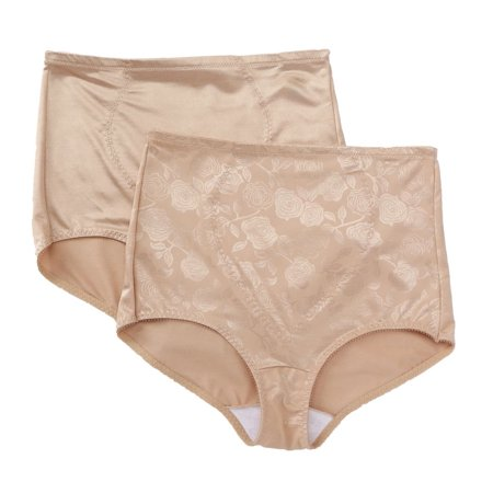 Women's Bali X710 Firm Control Tummy Panel Brief Panty - 2 Pack ()