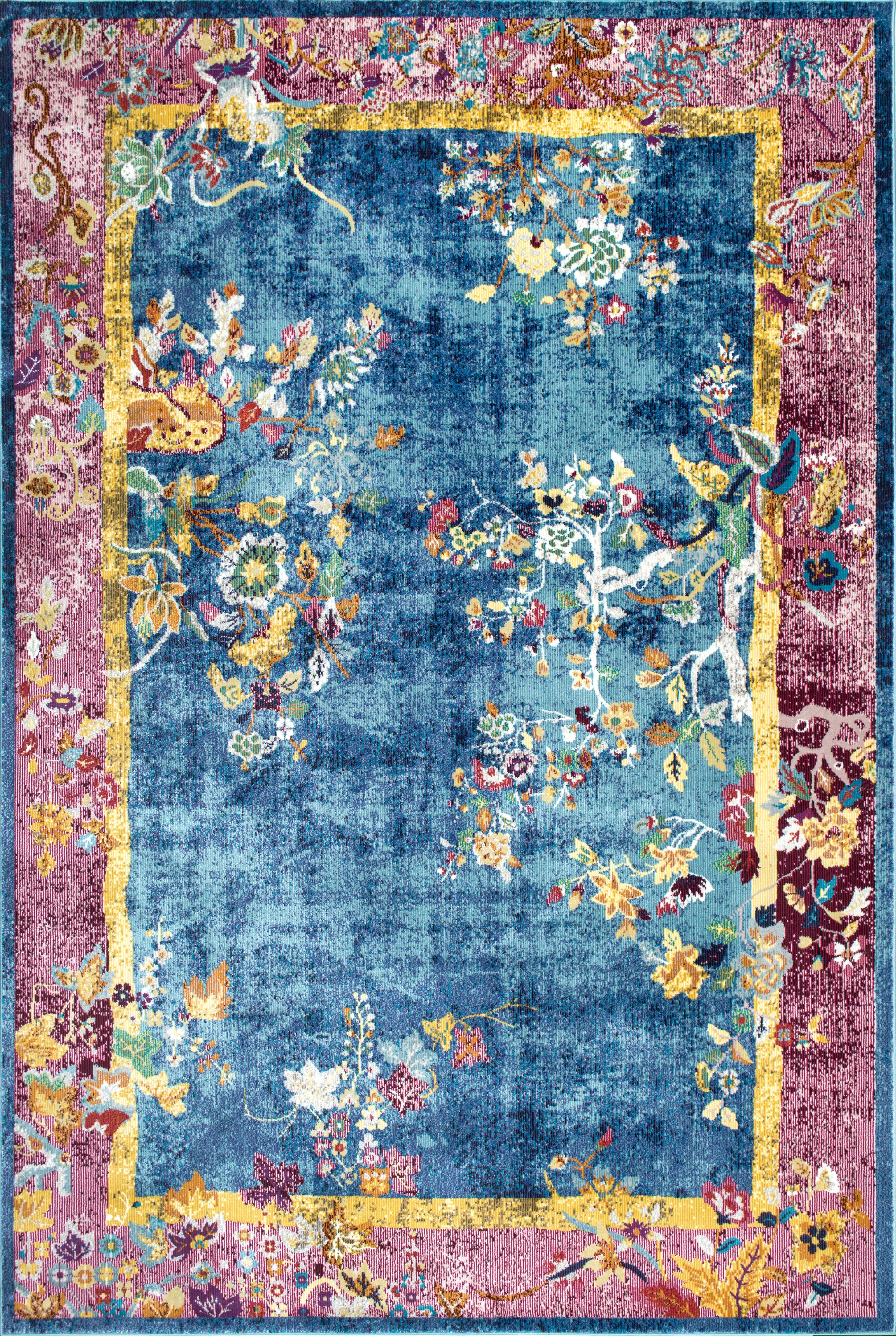 NuLOOM Nia Floral Chinese Art Deco Area Rug