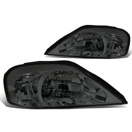 For 00-05 Mercury Sable Headlight Smoked Housing Clear Corner Headlamp 01 02 03 04 Sedan Left+Right