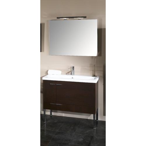 Scarabeo Iotti by Nameeks Simple 39'' Single Wall Mounted Bathroom Vanity Set with Mirror