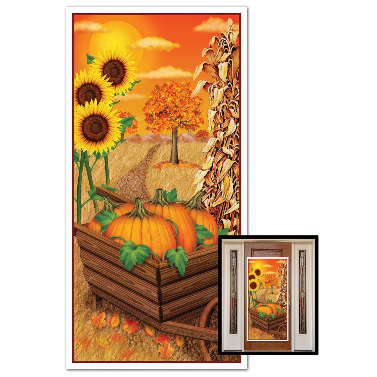 Club Pack of 12 Thanksgivng Themed Fall Door Cover Party Decorations 5'