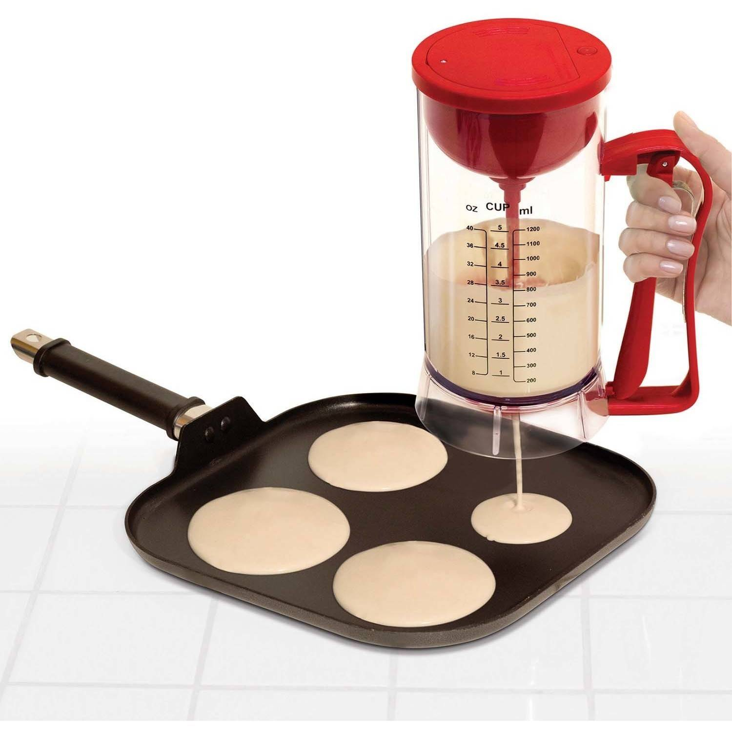 Handy Gourmet Jb6740 Cordless Electric Pancake Machine, Red