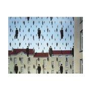 "RENE MAGRITTE Golconde (lg) 27.5"" x 39.5"" Poster 2013 Surrealism Brown, Blue, Gray, Black"