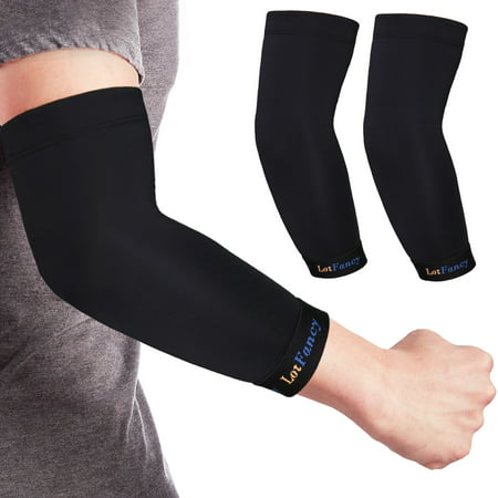 Copper Compression Sleeve (1 Pair), Elbow Brace for Women Men, Ideal for Tendonitis, Arthritis, Bursitis, Golfers, Weightlifting, Joint Support and