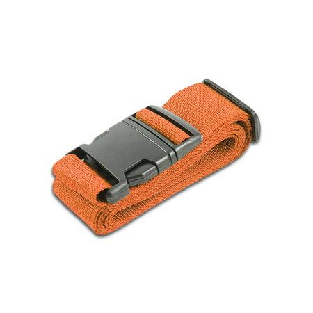 HeroFiber Orange Luggage Belts Suitcase Straps Adjustable and Durable, Travel Case Accessories, 1 Pack