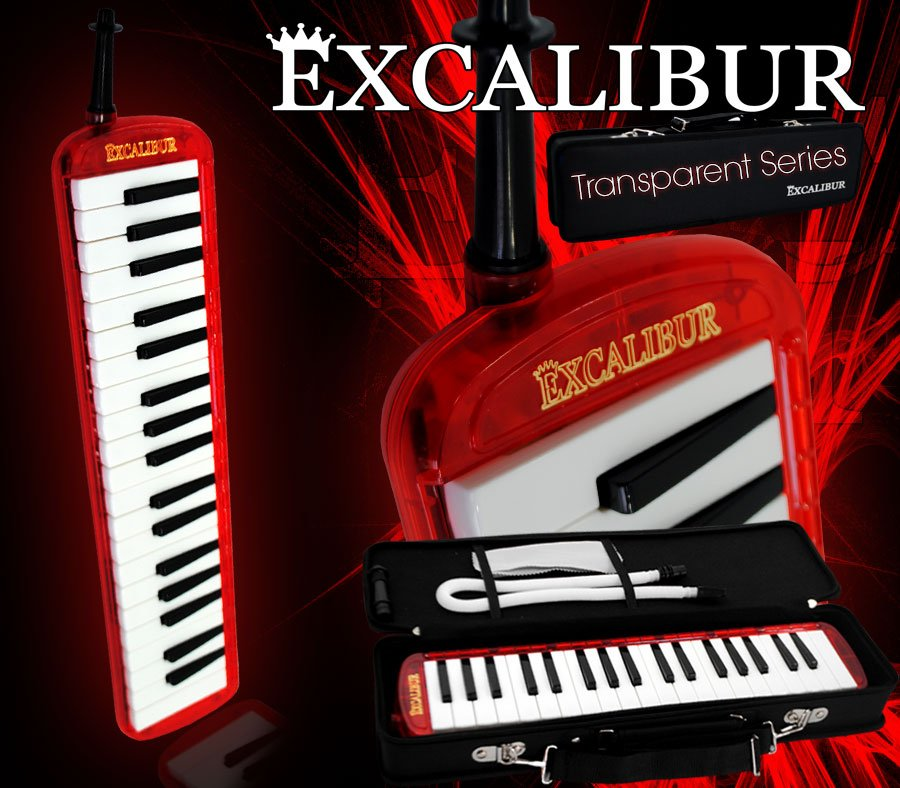 Excalibur Melodica Transparent Series Burning Red by