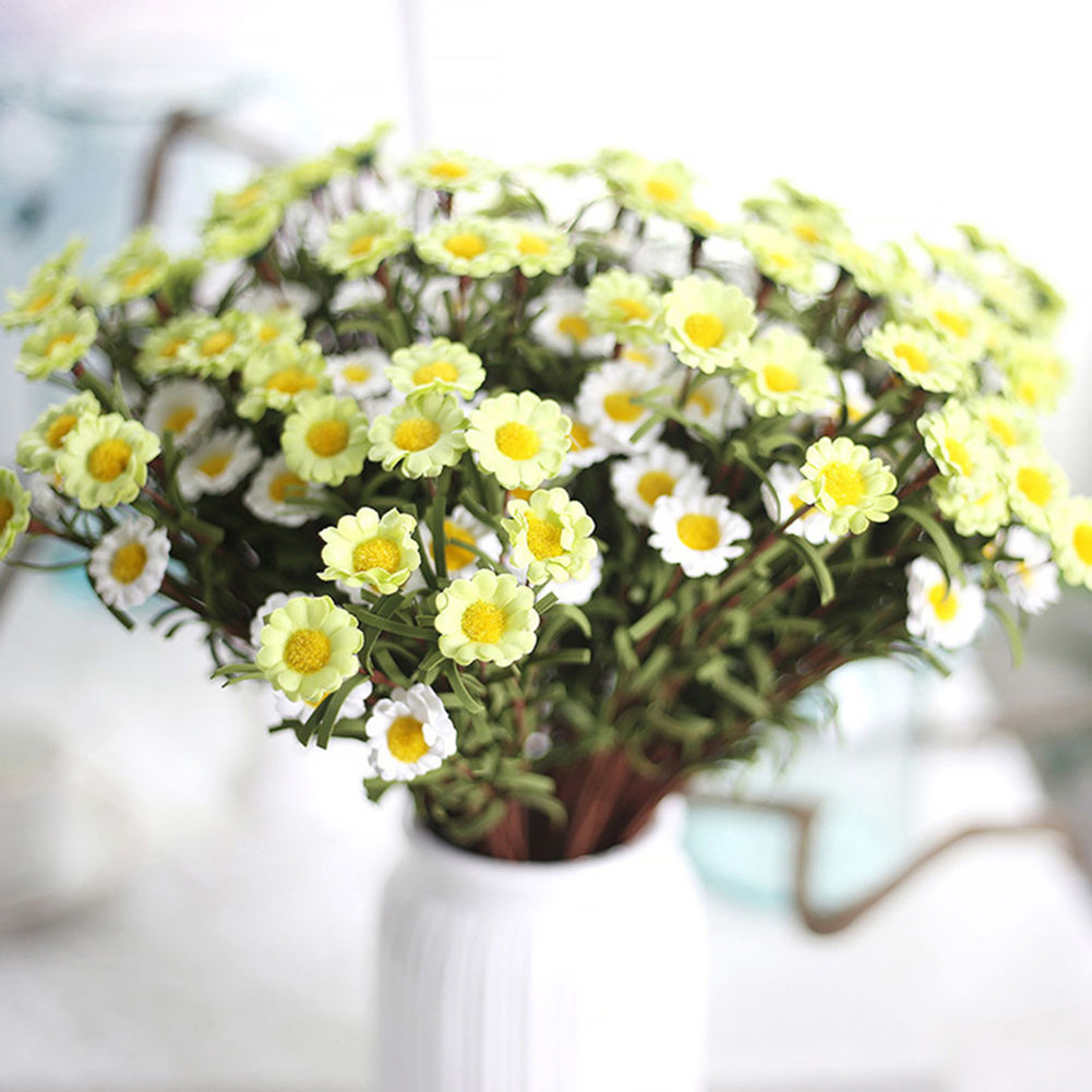 Heepo Artificial Fake Silk Daisy Flower Bouquet Home Wedding Party Decoration 8 Heads