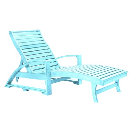 CR Plastic St Tropez Chaise Lounge with Wheels