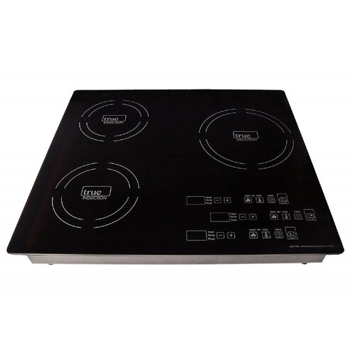 True Induction 23'' Induction Cooktop with 3 Burners