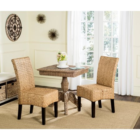 Safavieh Luz Wicker Dining Chair, Natural, Set of 2 ()