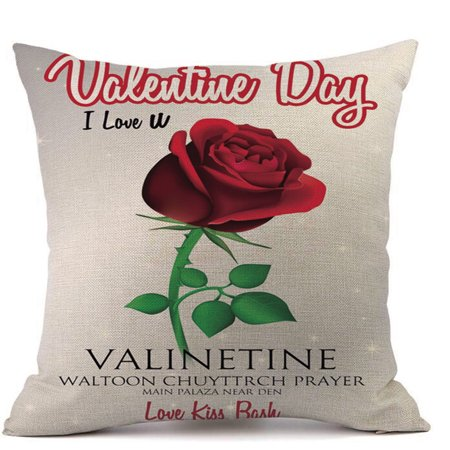 Valentine's Day Fashion Throw Pillow Cases Cafe Sofa Cushion Cover Home