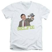 Mr Bean Selfie Mens V-Neck Shirt