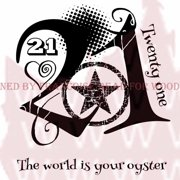 """Woodware Clear Stamps 3.5""""X3.5""""-Turned 21"""