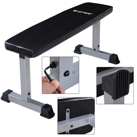 Costway Sit Up Bench Flat Crunch Board Ab Abdominal Fitness Weight Exercise