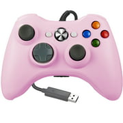 LUXMO Wired Xbox 360 Controller Gamepad Joystick Compatible with Microsoft Xbox 360 /PC/ Windows 7 8 10