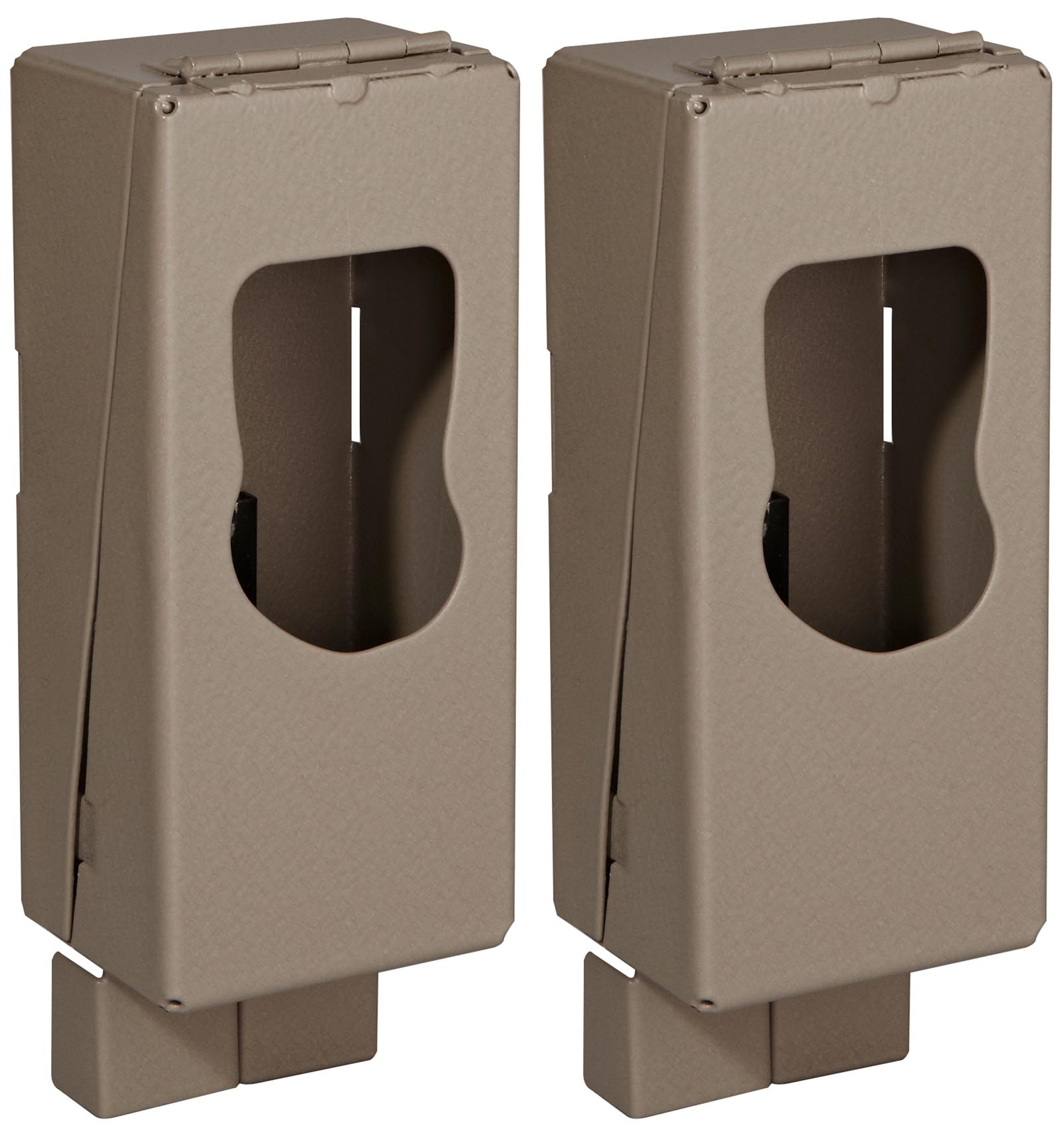 (2) CUDDEBACK CuddeSafe 3365 F Series Hunting Game Camera Metal Security Cases