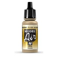 Desert Tan 686 Paint, 17ml, The pigments used for airbrush colors are ground to the finest possible consistency By Vallejo