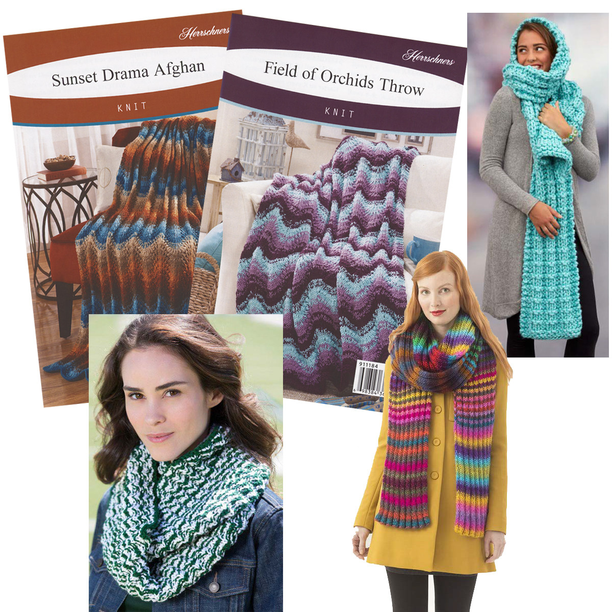 Knit Pattern Assortment Pkg/5 Knit Pattern