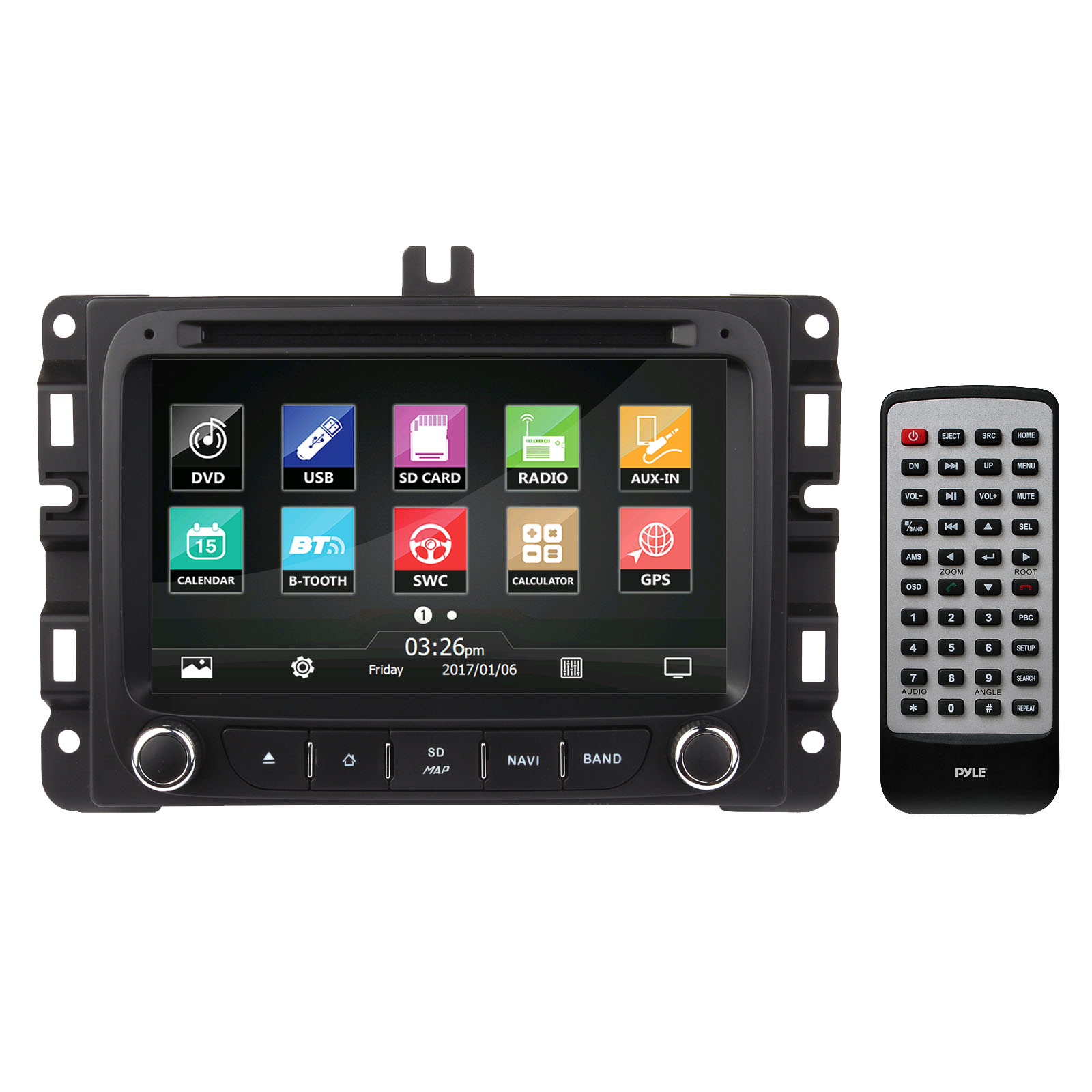 2015/2016 Jeep Renegade Factory OEM Replacement Stereo Receiver, Plug-and-Play Direct Fitment Radio Headunit