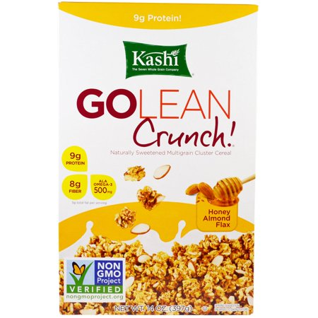 Kashi, GoLean Crunch! Honey Almond Flax Cereal, 14 oz (pack of 6)