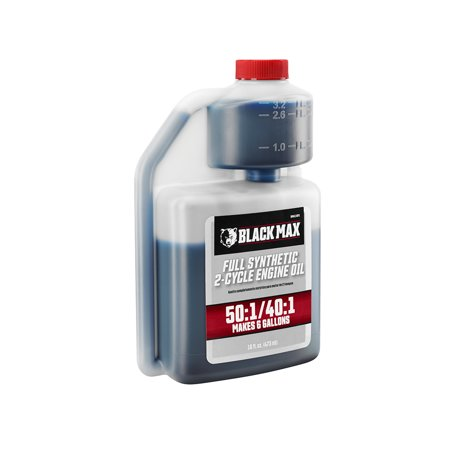 Black Max 16oz Full Synthetic 2-Cycle Oil, Makes 6 Gallons