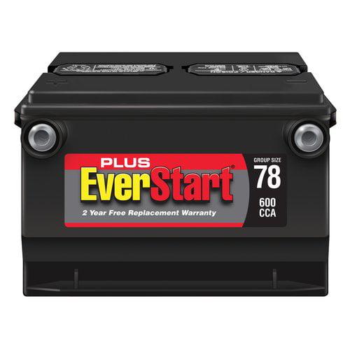 EverStart Plus Lead Acid Automotive Battery, Group Size 78-3
