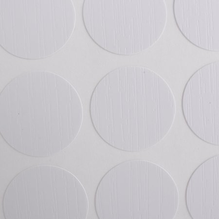Plastic Round 21mm Self-adhesive Antislip Chair Foot Cover Table Furniture Leg Protector White 54 Pcs - image 1 de 3