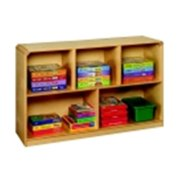 Korners For Kids Mobile 5-Compartment Storage Unit, Birch