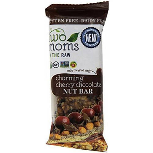 Image of 2 Moms In The Raw Charming Cherry Chocolate Nut Bar, 1.5 oz, (Pack of 12)