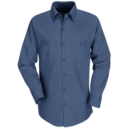 Red Kap Men's Long Sleeve Industrial Work Shirt