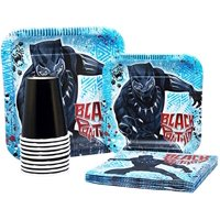 Black Panther Tableware Pack! Disposable Paper Plates, Napkins and Cups (Set for  8)