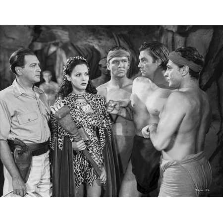 Johnny Weissmuller Presented to the Amazon Queen in a Classic Movie Scene Photo Print (Amazon Classic)