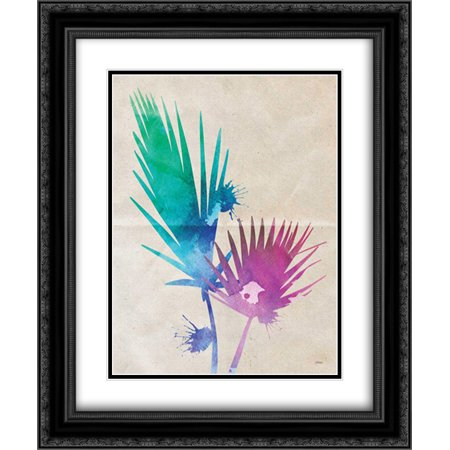 Fan Palm 2x Matted 20x24 Black Ornate Framed Art Print by Louise, Gigi](Palm Fans)