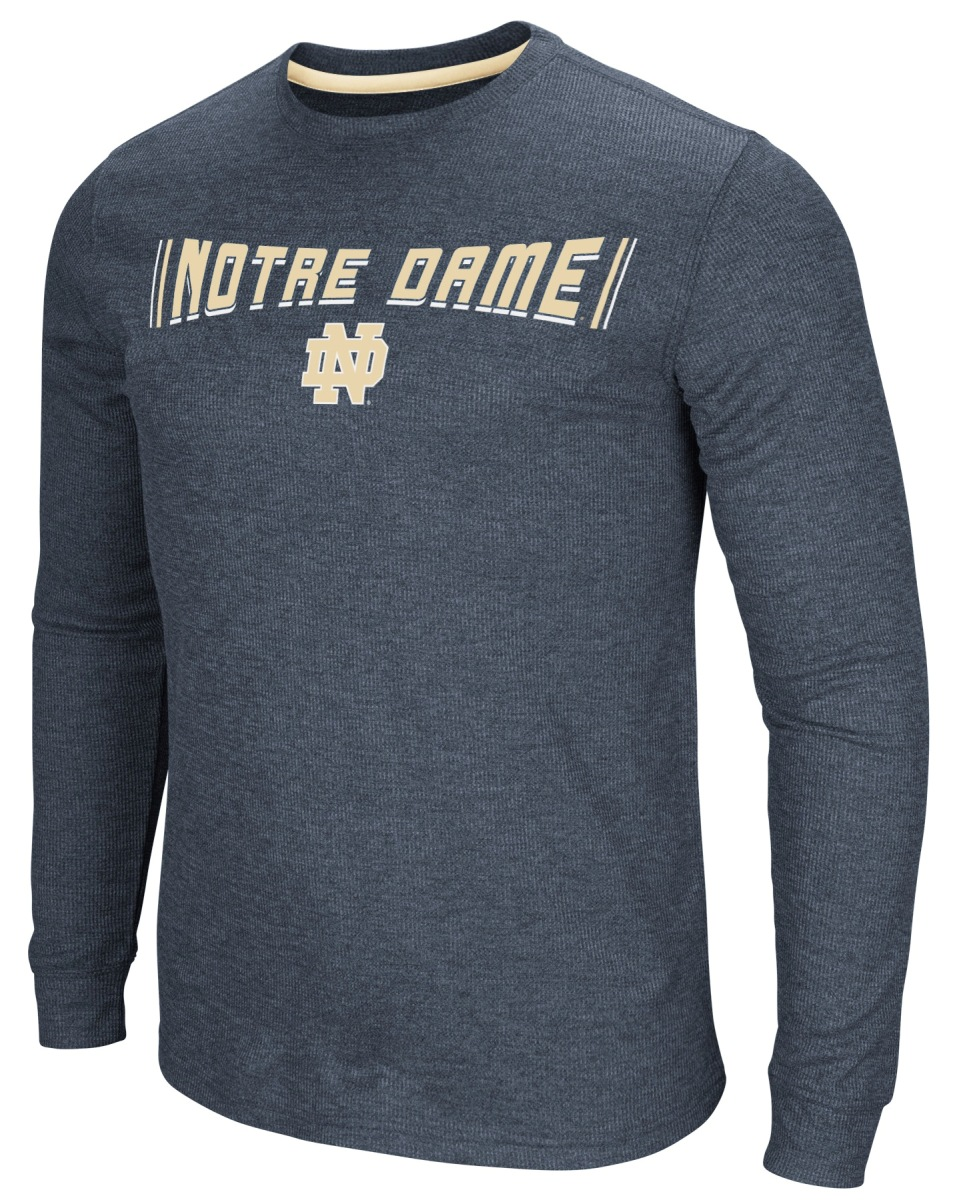 """Notre Dame Fighting Irish NCAA """"Cake Time"""" Men's Long Sleeve T-Shirt by Colosseum"""