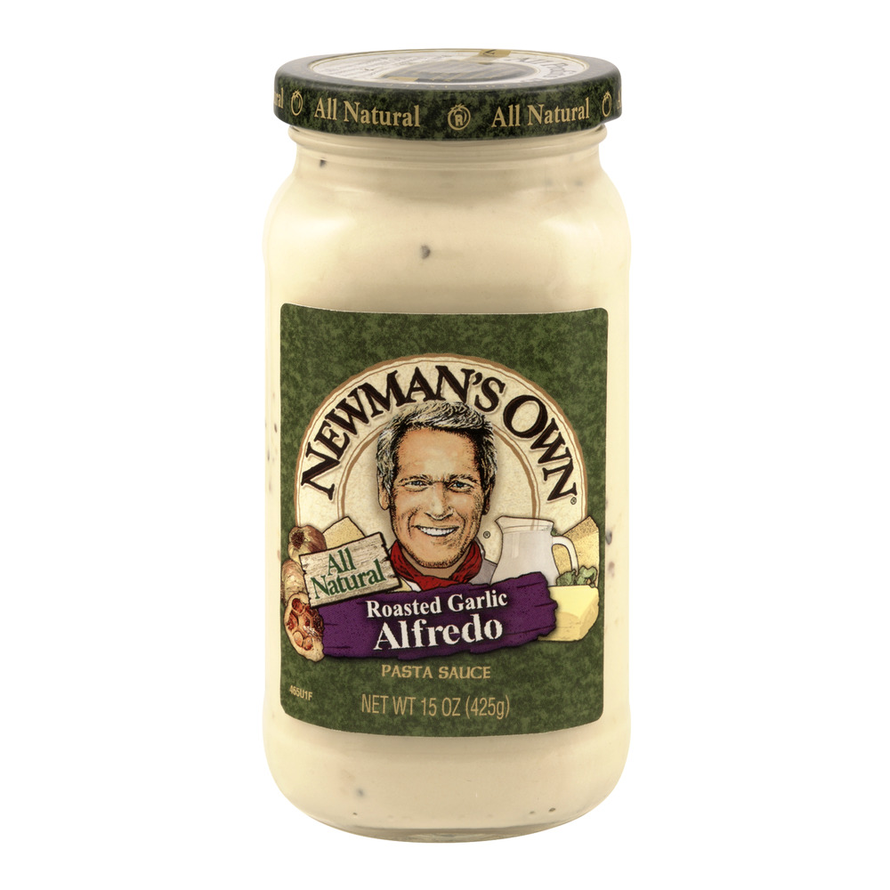 Newman's Own All Natural Roasted Garlic Alfredo Pasta Sauce, 15.0 OZ