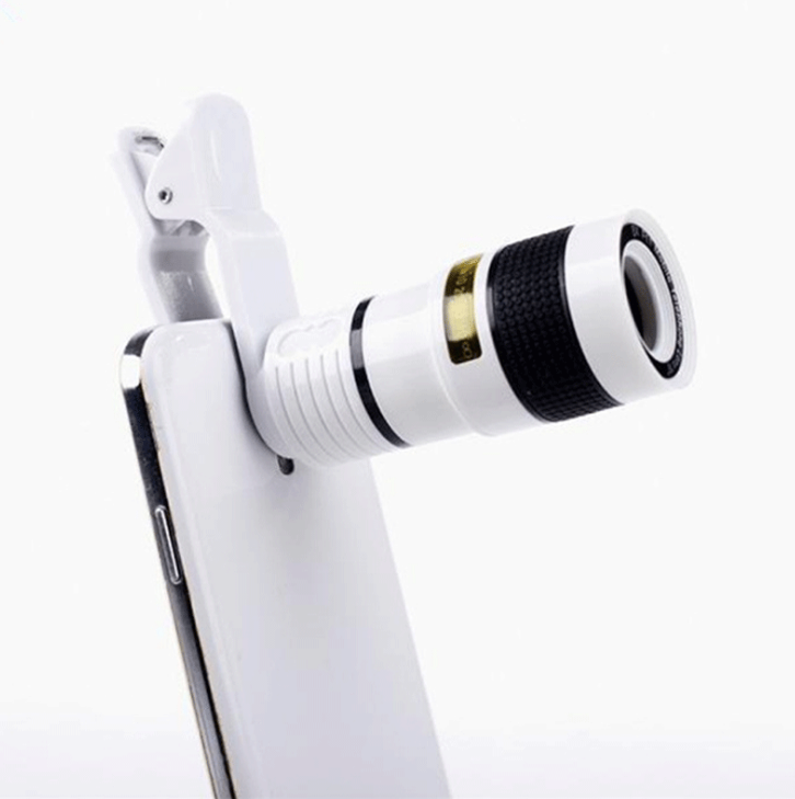 Cellphone Camera Lens Universal High Definition 12X Optical Zoom Focus Mobile Phone Lens Clip-on Telescope for Smartphones