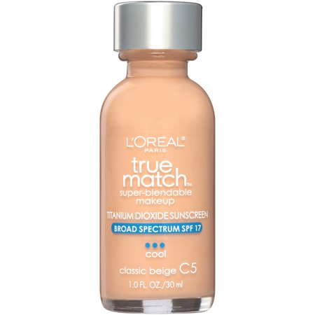 L'Oreal Paris True Match Super-Blendable Foundation Makeup, Classic Beige, 1 fl. (The Best Drugstore Foundation 2019)