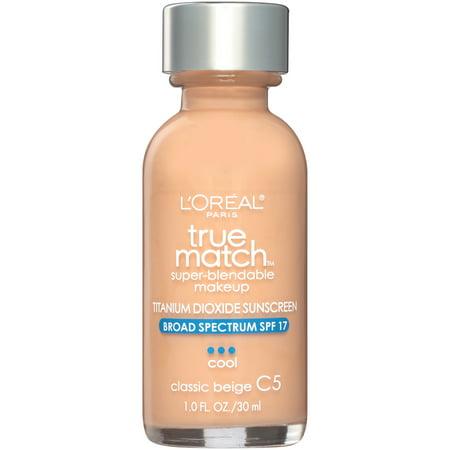 L'Oreal Paris True Match Super-Blendable Foundation Makeup, Classic Beige, 1 fl.